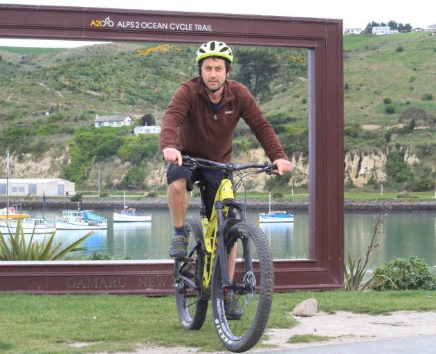 Rob Connolly will ferry riders for Art on Bikes,  the Waitaki Arts Festival closing day...