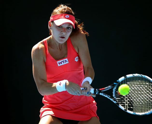 Agnieszka Radwanska plays at last year's ASB Classic. Photo: Getty Images