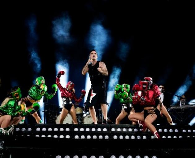 Robbie Williams in concert. PHOTO: SUPPLIED