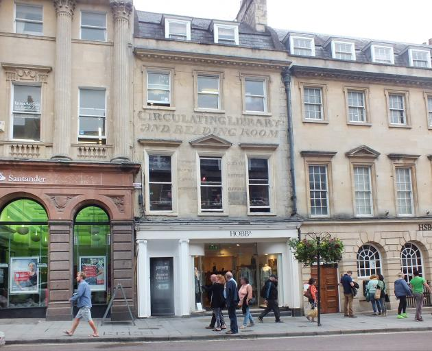 Milsom St, with its libraries and milliners, was popular with Georgette Heyer's characters.