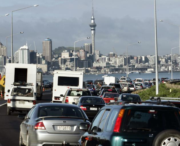 The new Labour-led Government will introduce a regional fuel tax on Auckland motorists to help fund a multibillion-dollar investment in trams to the airport and West Auckland. Photo: NZ Herald