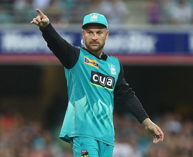 Brendon McCullum in the field for the Brisbane Heat. Photo: Getty Images