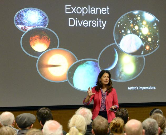 Nasa Kepler mission scientist Dr Natalie Batalha speaks to a large audience about exoplanets at ...