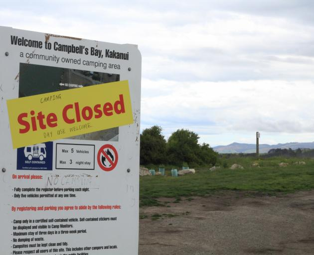 The Kakanui Ratepayers' Society has decided not to allow freedom camping on its land at Campbells...