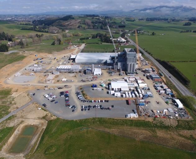 Progress continues to be made on the Mataura Valley Milk factory, near Gore. Photo: Supplied
