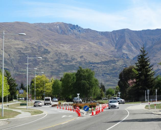 Wanaka's Anderson Rd roundabout has had  a garden makeover which has upset some residents. Photo:...