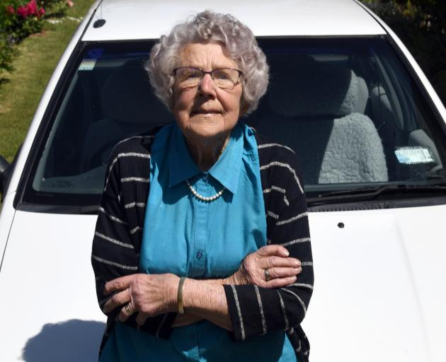 Bessie Pearson still regularly drives around Ranfurly. PHOTO: CRAIG BAXTER