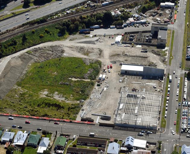 A new building starts to emerge on the land that once housed the hallowed Carisbrook. PHOTO:...