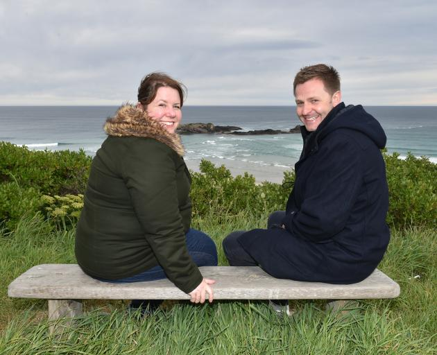 Dunedin writer Emma Schranz and director David Hay have won an international award for their short film Cold Fish, which was shot almost entirely at Smaills Beach, Dunedin. Photo: Tim Miller
