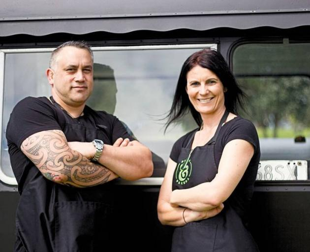 Jarrod and Belinda McKay with their Puha & Pakeha food truck. Photos: New Zealand Herald