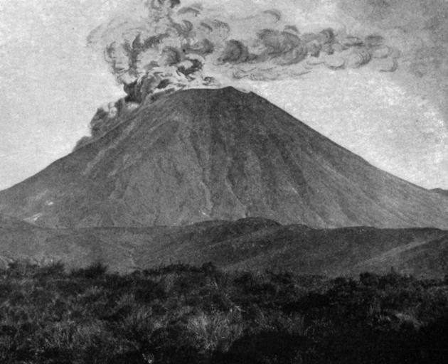 Mt Ngauruhoe has erupted violently several times since the beginning of the month, ejecting boulders and lava. - Otago Witness, 14.11.1917