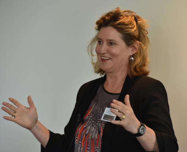 Prof Hallie Buckley, of the University of Otago anatomy department,  speaks at the Otago Global...