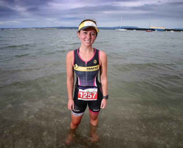 Sarah O'Grady at Pilot Bay where she had a scary experience with a shark. Photo: BOP Times