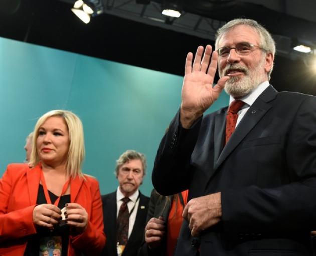 Sinn Fein President Gerry Adams (right) is stepping down. Photo: Reuters