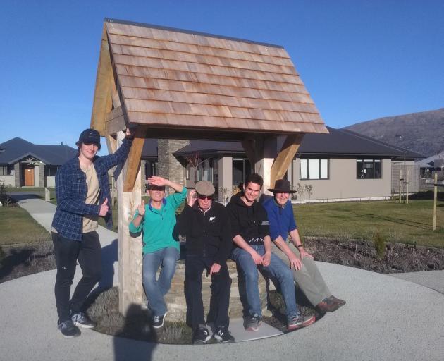 Mt Aspiring  pupils at a ''men's club''. Photo: Liz Breslin