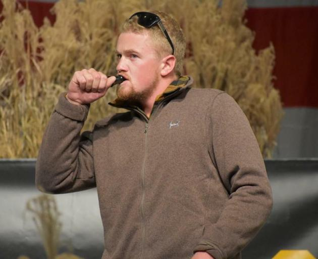 Hunter Morrow, of Luggate, competes at the World Waterfowl Calling championships at the weekend....