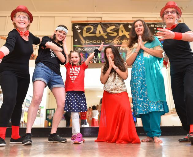 Rasa School of Dance members (from left) Lesley Armitage, her daughter, Kim King, her daughter,...