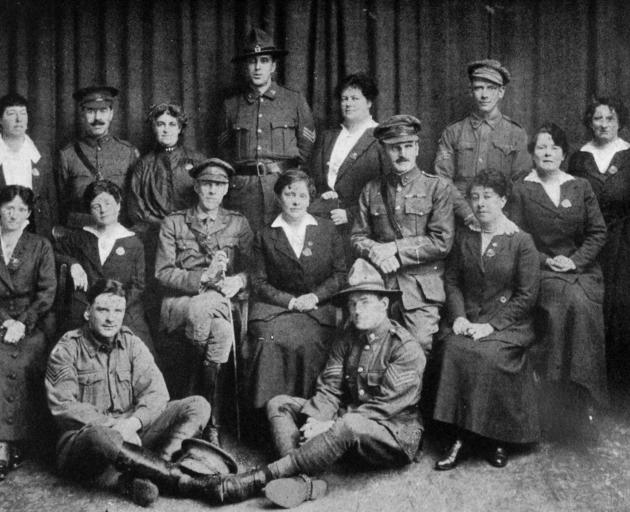 Back row (from left): Mrs Cusack (Capetown), Sergeant-major Cullen, Mrs Boden (Brisbane),...