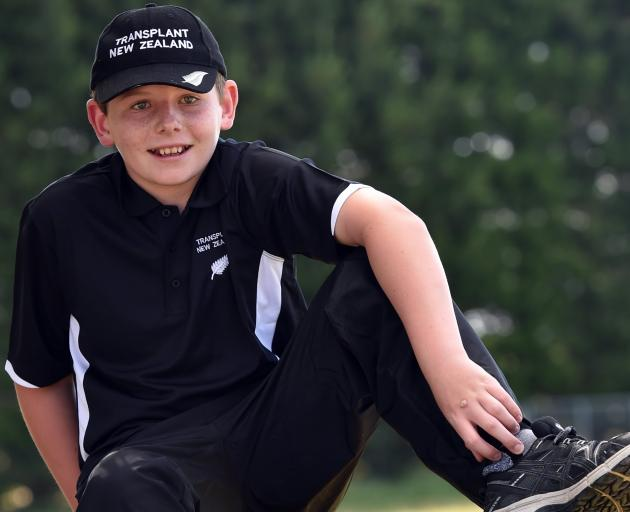 Ranfurly boy Hamish Crossan, who is heading  to Switzerland to take part in the World Transplant...