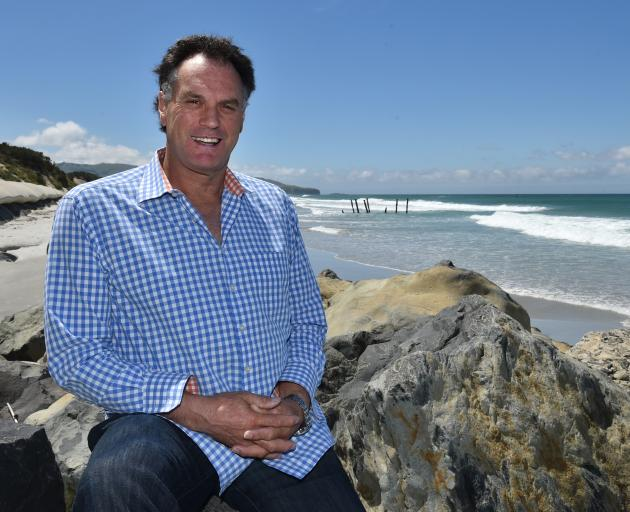 St Clair man Jules Radich envisions a 100m wooden groyne reaching out into the surf. Photo:...