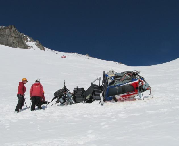 The scene of the crash on Mt Alta. Photo: Supplied