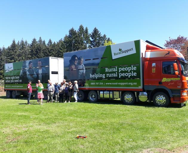 In an effort to grow RST awareness, the group partnered with Downlands Deer, which has provided one of its trucks as a mobile billboard. Photo: Supplied
