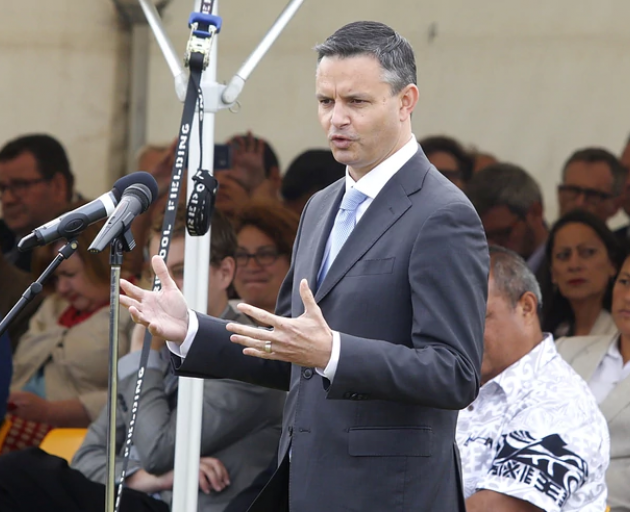 Green Party leader James Shaw announced the refreshed climate change policy at a rally in...