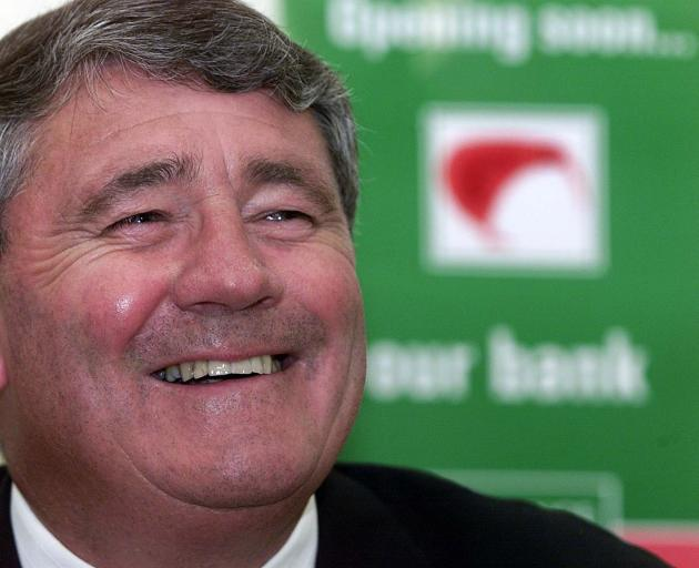 Deputy prime minister Jim Anderton is all smiles in February 2001 as his Kiwibank  is given the...