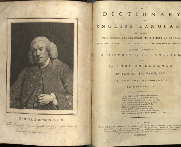 A 19th-century edition of Dr Johnson's dictionary. Photo: Flickr Creative Commons