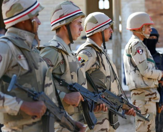 Military forces are seen in North Sinai. Photo: Reuters