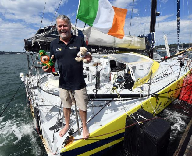 A year after he was towed into the city with a broken mast, Irish solo-sailor Enda O'Coineen is preparing to leave Dunedin on Friday on a two-month journey to France. Photo: Stephen Jaquiery