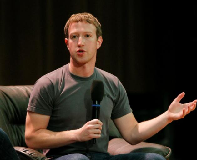 Facebook Chief Executive Mark Zuckerberg addresses students at the Moscow State University in...