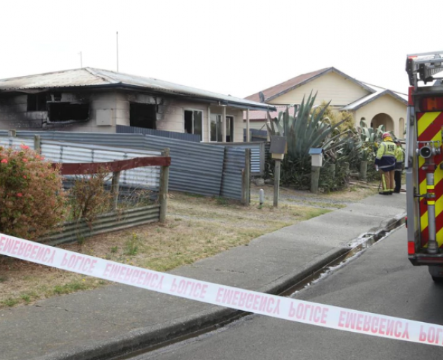 The house was extensively damaged. Photo: NZ Herald