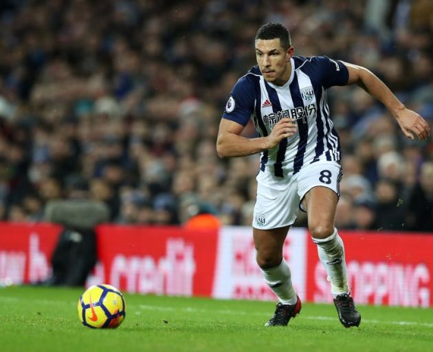 Jake Livermore in action for West Bromwich Albion. Photo: Getty Images