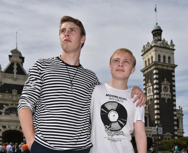 Travis (left) and Ethan von Metzinger want to stay in New Zealand, but are facing deportation back to their birth country, South Africa. Photo: Gregor Richardson