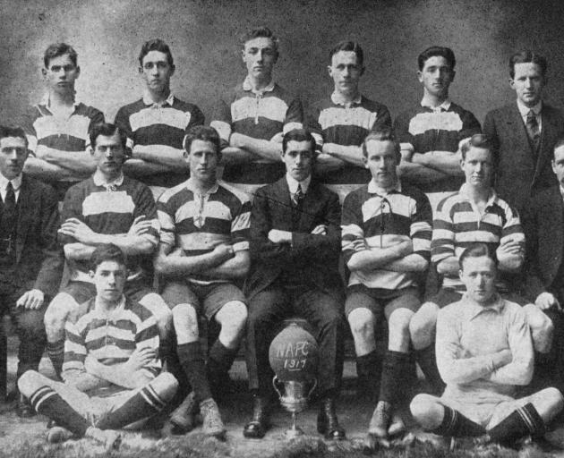 The Northern Association Football team, winners of the A grade competition for 1917. — Otago...
