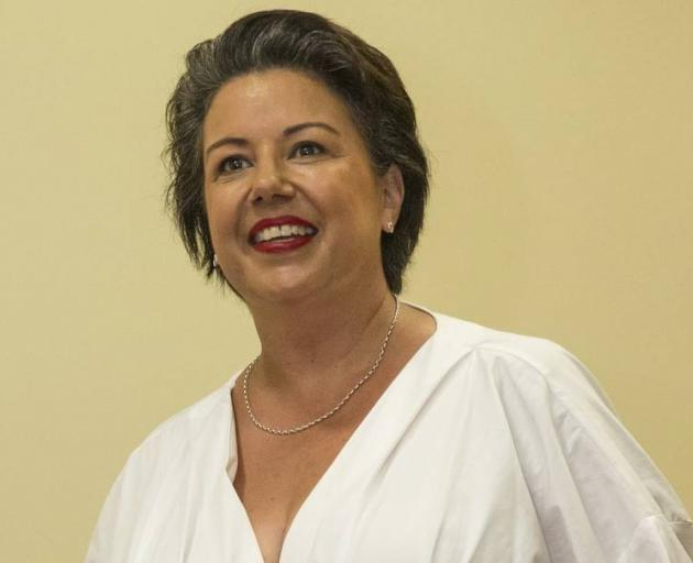 National deputy leader Paula Bennett on her way to their caucus at Parliament. Photo: NZ Herald