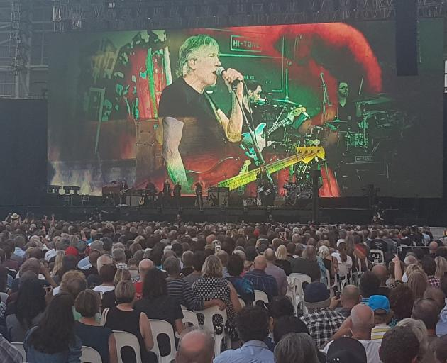 Former Pink Floyd member Roger Waters live at Forsyth Barr Stadium this evening. Photo: Vaughan...