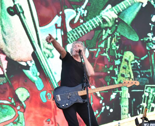 Pink Floyd founding member Roger Waters performs in front of a big crowd at Forsyth Barr Stadium on Tuesday Night. Photo: Gregor Richardson