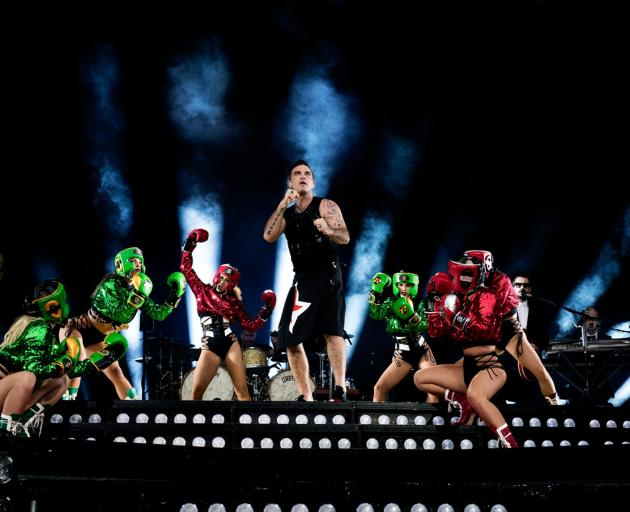 Robbie Williams blows through town next month with his Heavy Entertainment Show. Photos: supplied
