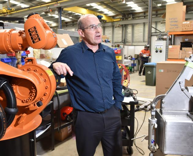 Scott Technology chief executive Chris Hopkins with a robotics prototype. The company will, as...