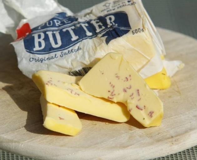 When Tania Whyte sliced through a block of butter there was a bit of a surprise. Photo: Supplied