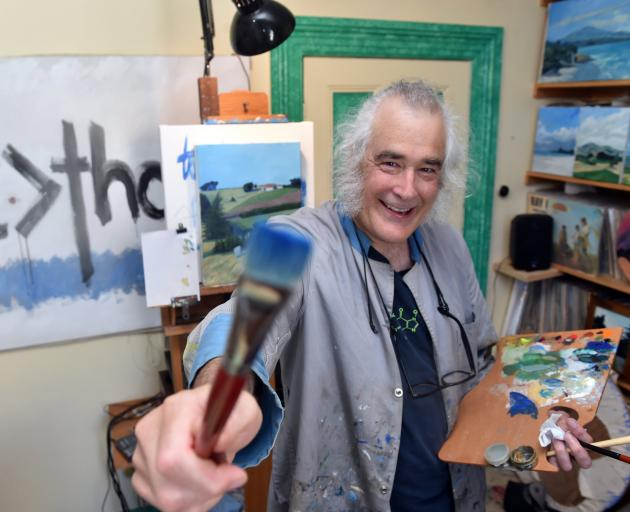 Baden French enjoys spending nights and weekends painting in his home studio. Photo: Peter McIntosh