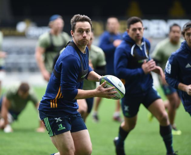 Ben Smith trains at Forsyth Barr Stadium earlier this year. Photo: ODT