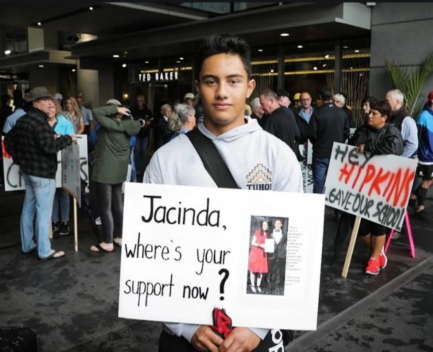 Dominic Elliott is gutted at the prospect of his school being shut down. Photo: NZ Herald