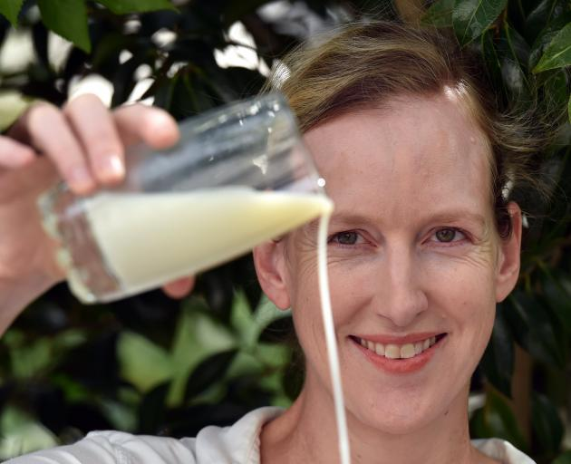 Dr Tamlin Conner, of the University of Otago, has been researching aspects of managing food allergies, including to milk products. Photo: Peter McIntosh