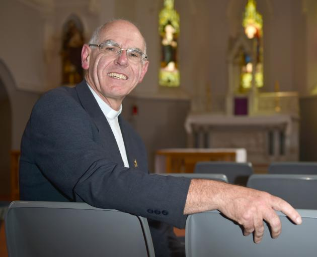 Bishop-elect of the Dunedin Catholic diocese Fr Michael Dooley in the St Joseph's Cathedral chapel. Photo: Gregor Richardson