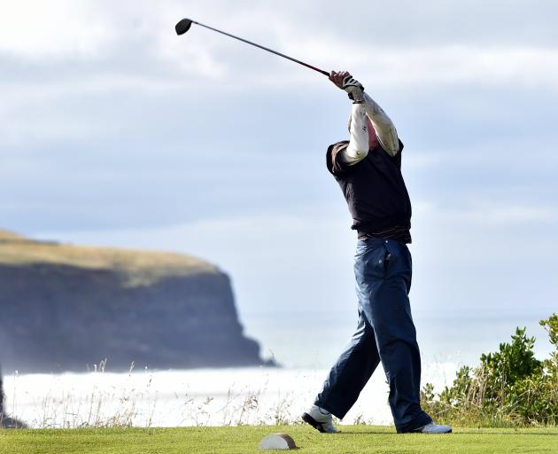 Golf is about friendship and laughter and days in the sun where the magnificent coastal vistas provide a welcome distraction from the frustrations of the game. Photo: ODT files
