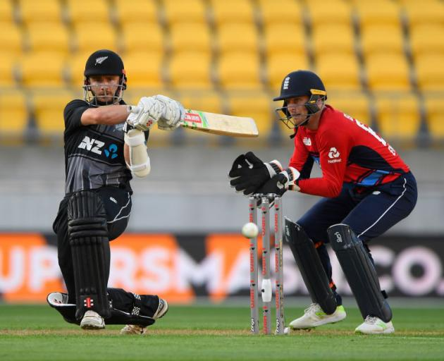 Blackcaps captain Kane Williamson in action against England. Photo: Getty