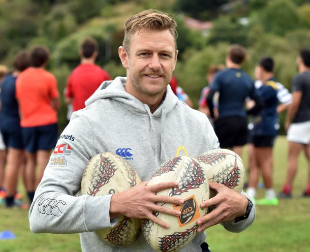 New Otago Rugby Football Union player development manager Paul Galland, at Moller Park this week. Photo: Peter McIntosh